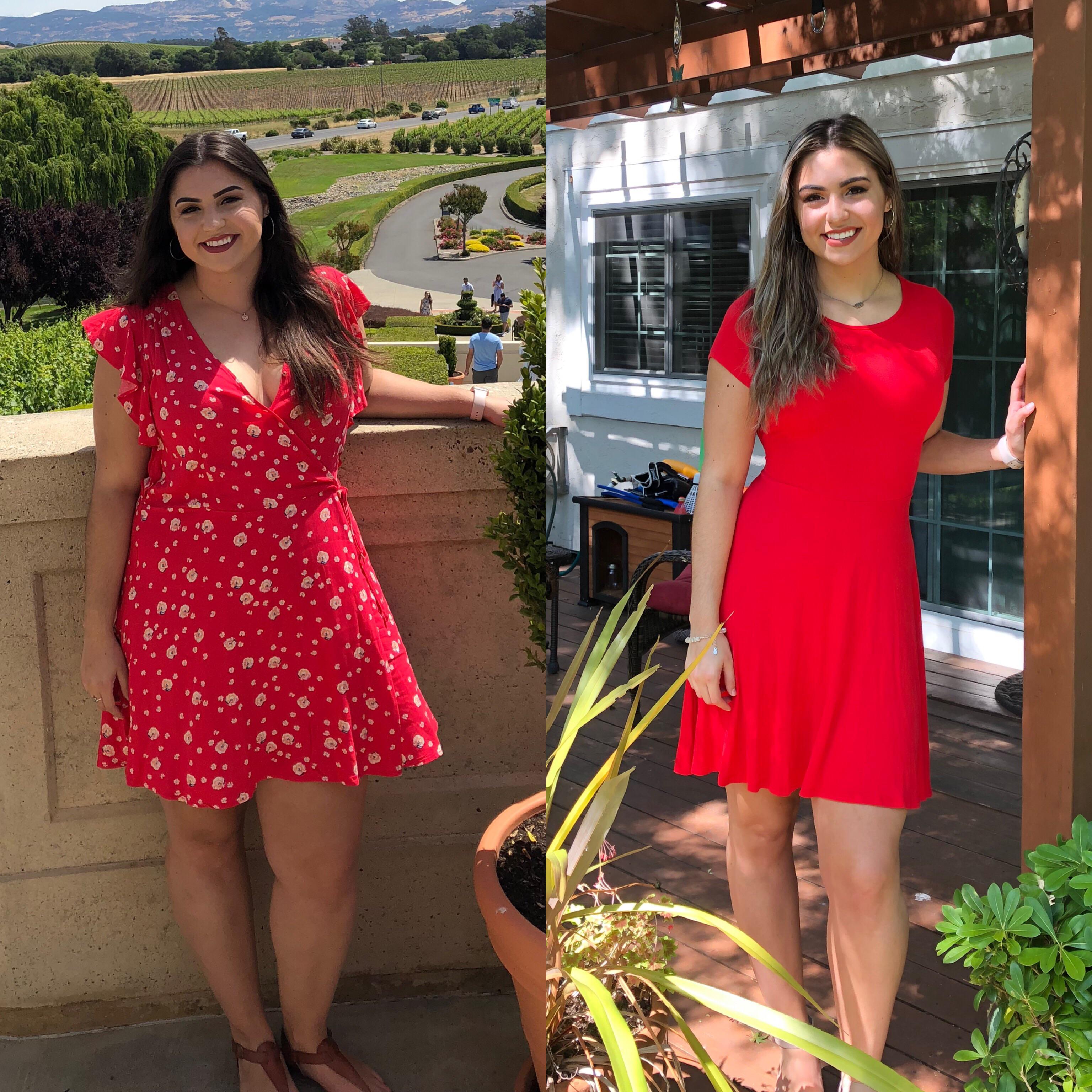 Progress Pics of 72 lbs Fat Loss 5 feet 10 Female 240 lbs to 168 lbs