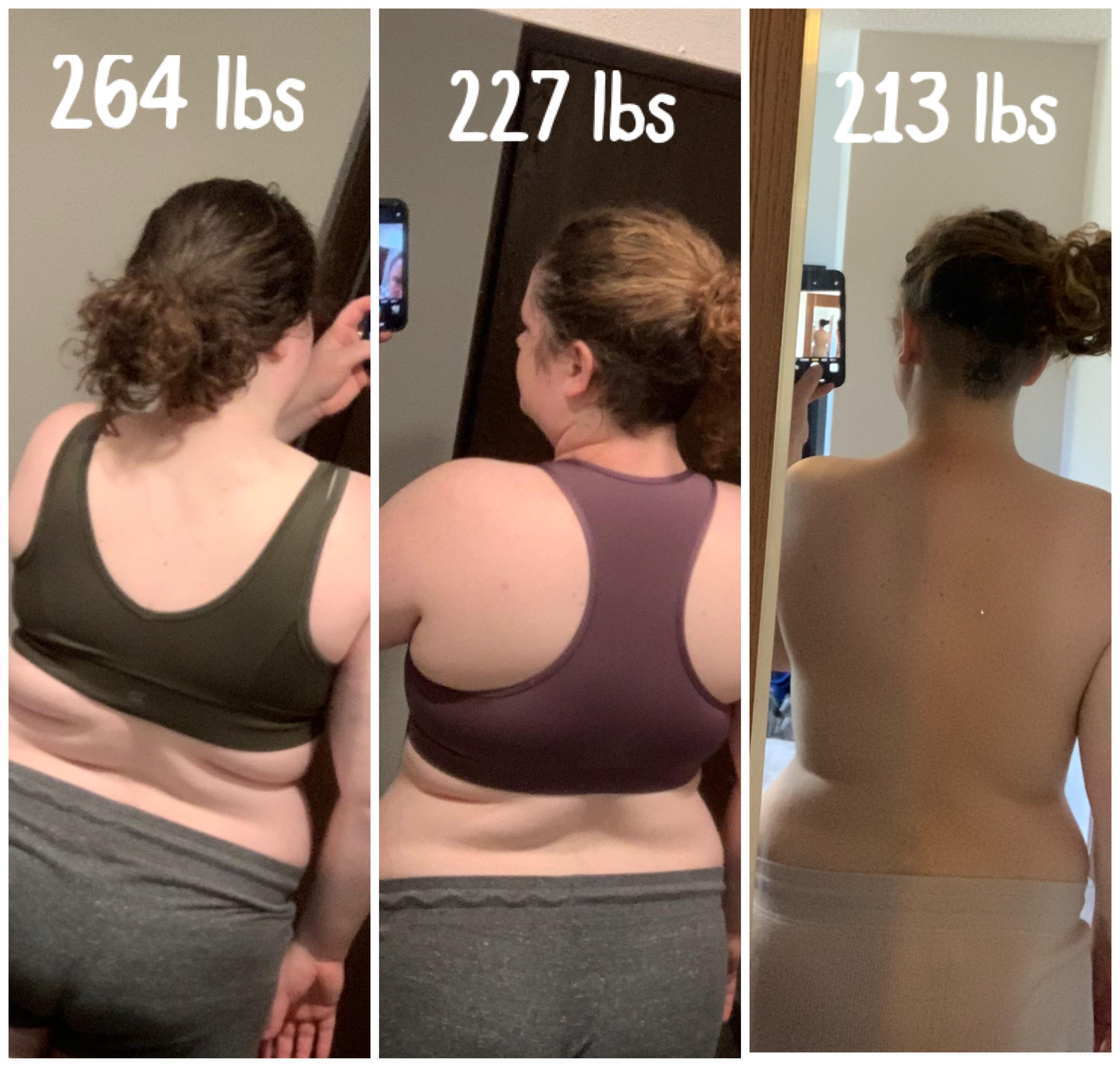 5 foot 7 Female 50 lbs Weight Loss 264 lbs to 214 lbs