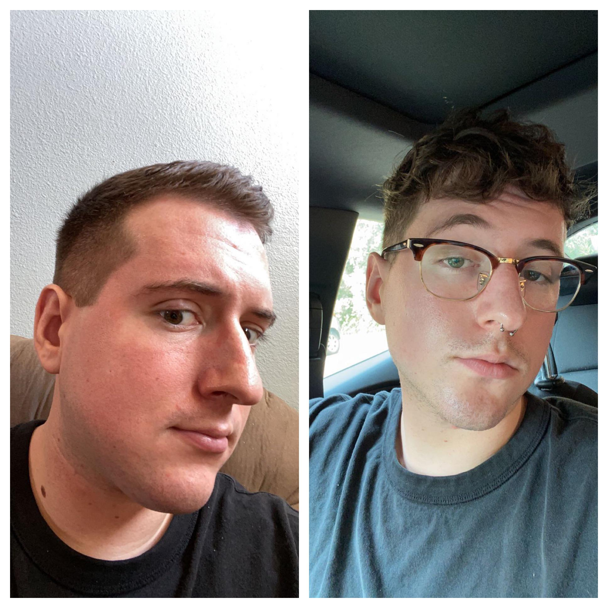 6 feet 2 Male Before and After 30 lbs Fat Loss 240 lbs to 210 lbs