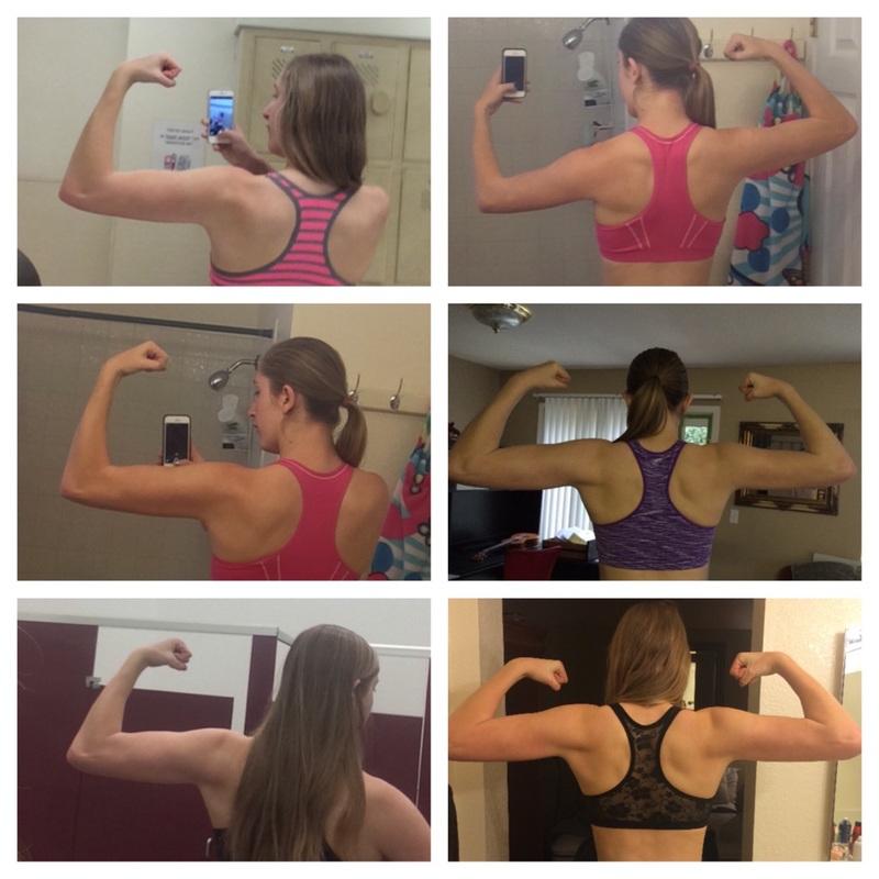 Progress Pics of 3 lbs Muscle Gain 6 feet 1 Female 148 lbs to 151 lbs