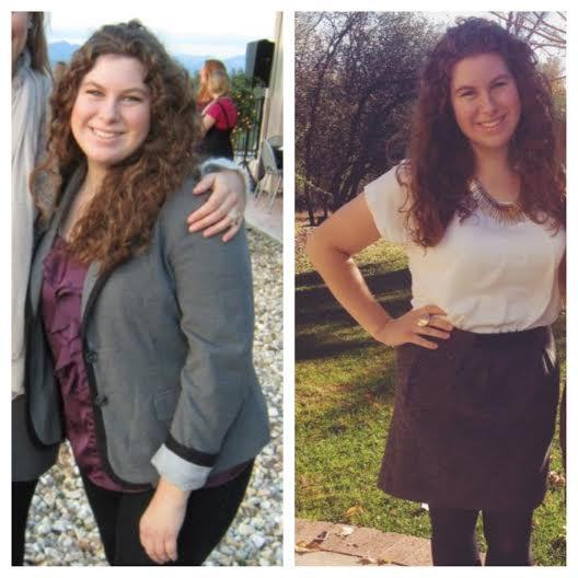 5'6 Female Before and After 40 lbs Fat Loss 205 lbs to 165 lbs
