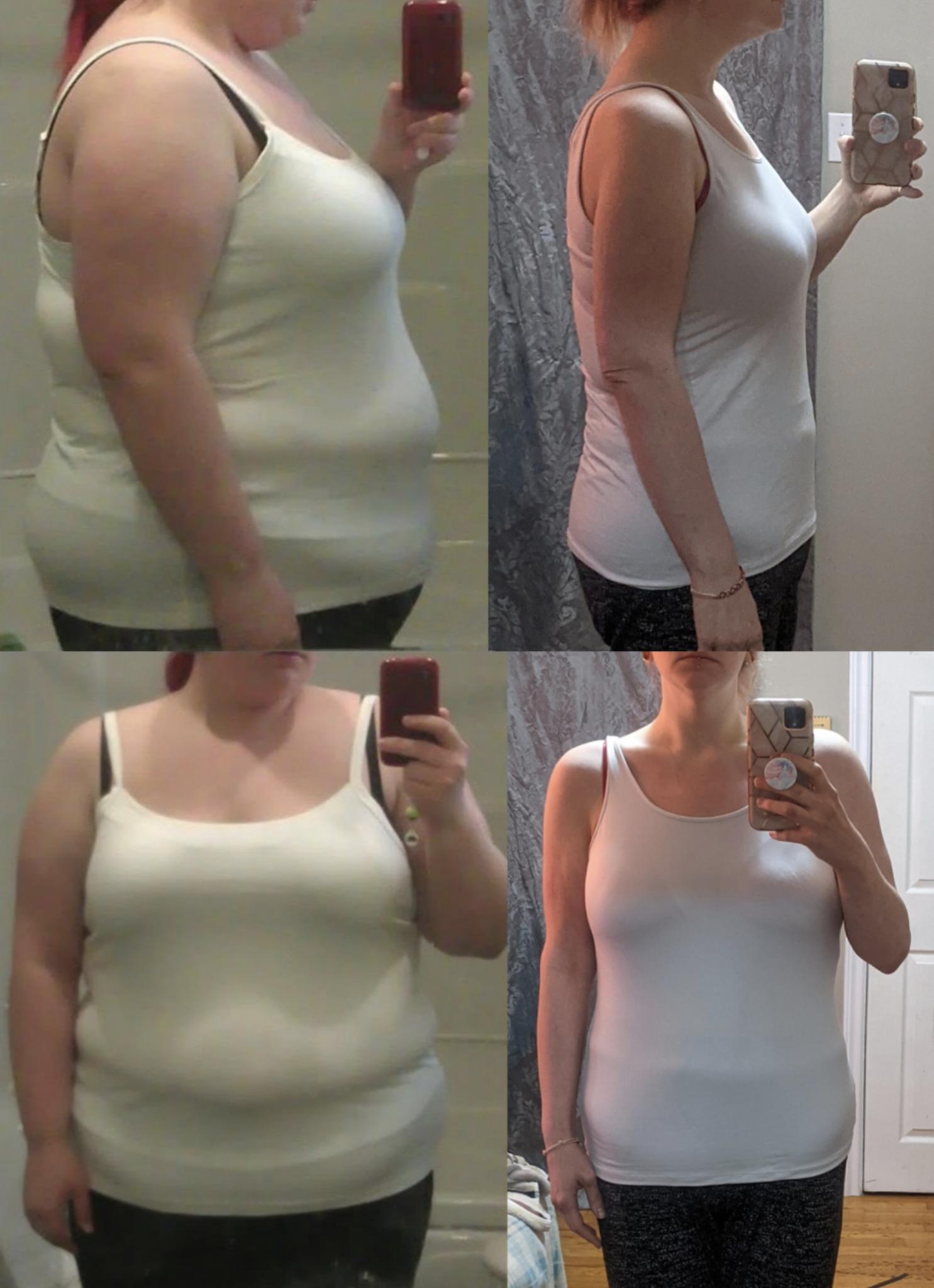 5 feet 8 Female Progress Pics of 150 lbs Weight Loss 335 lbs to 185 lbs