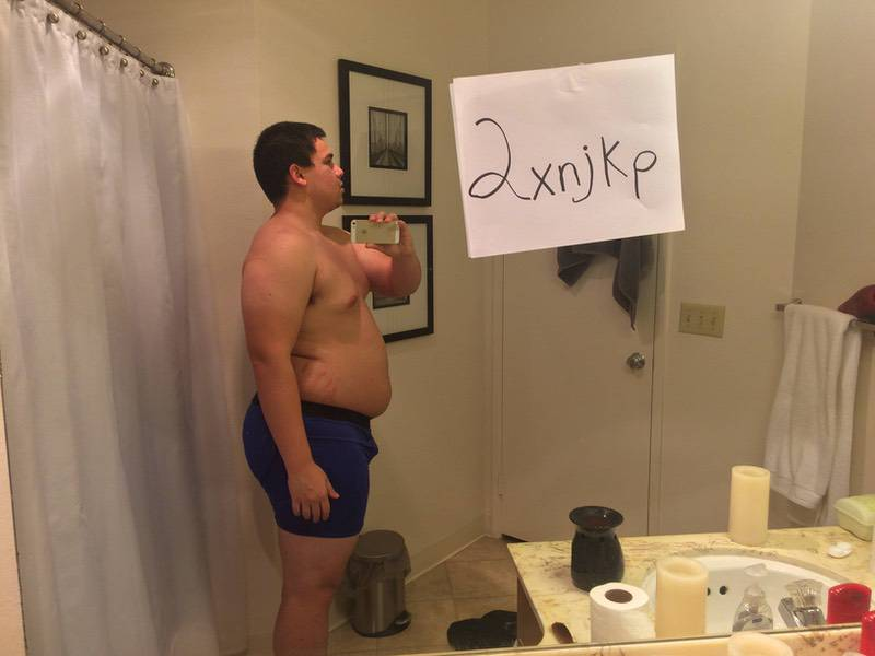 3 Pics of a 260 lbs 5 foot 9 Male Fitness Inspo