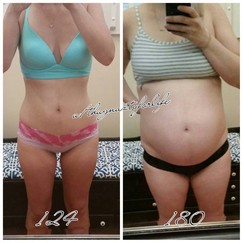 5 feet 6 Female Before and After 56 lbs Fat Loss 180 lbs to 124 lbs