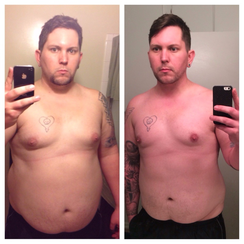 6'2 Male Before and After 47 lbs Weight Loss 318 lbs to 271 lbs