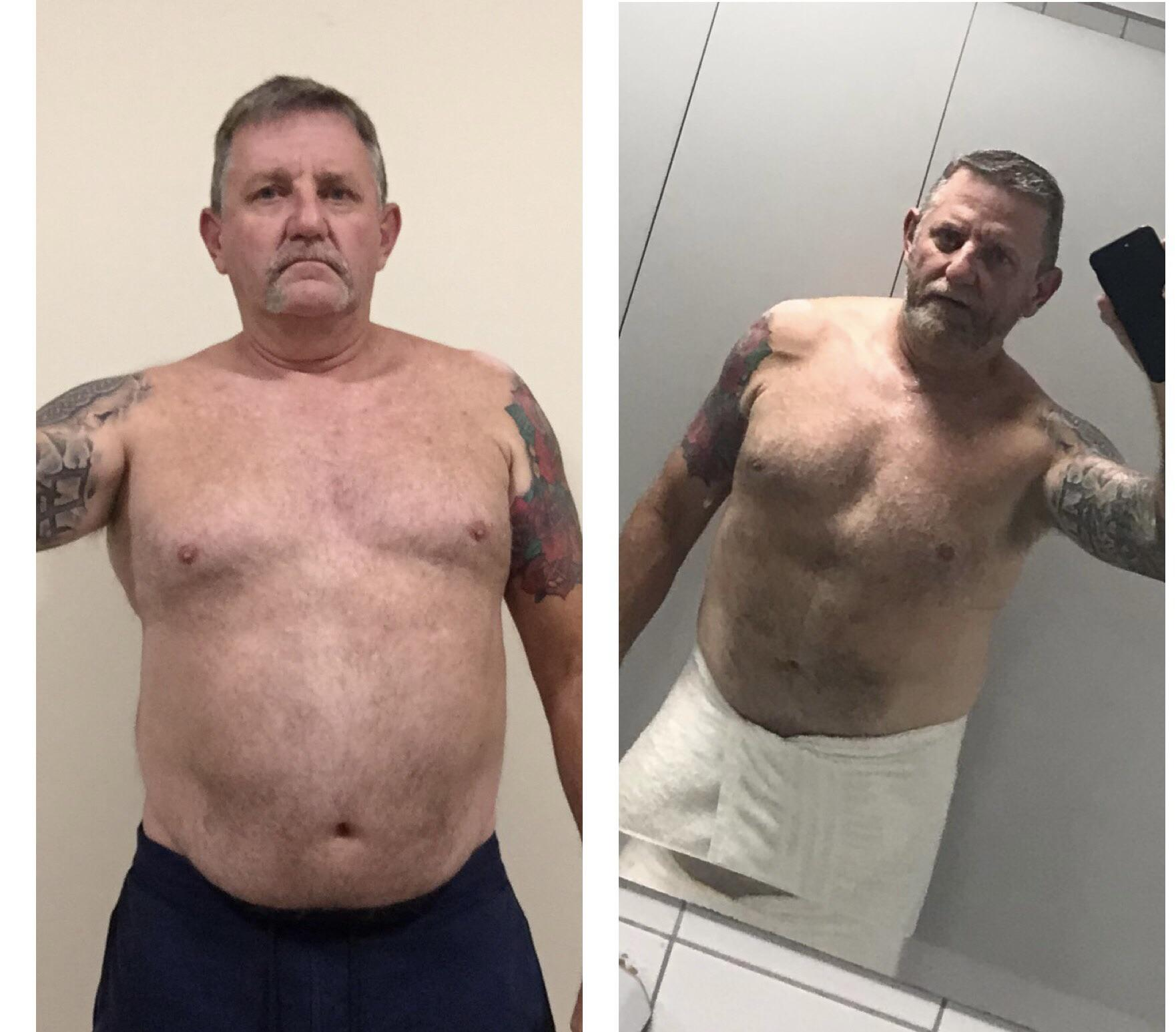 5'10 Male 30 lbs Fat Loss 235 lbs to 205 lbs
