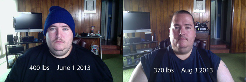 Progress Pics of 30 lbs Fat Loss 5 foot 10 Male 400 lbs to 370 lbs
