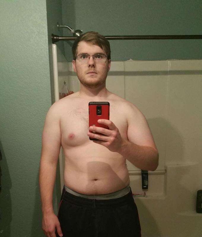 6 foot Male 29 lbs Fat Loss Before and After 225 lbs to 196 lbs