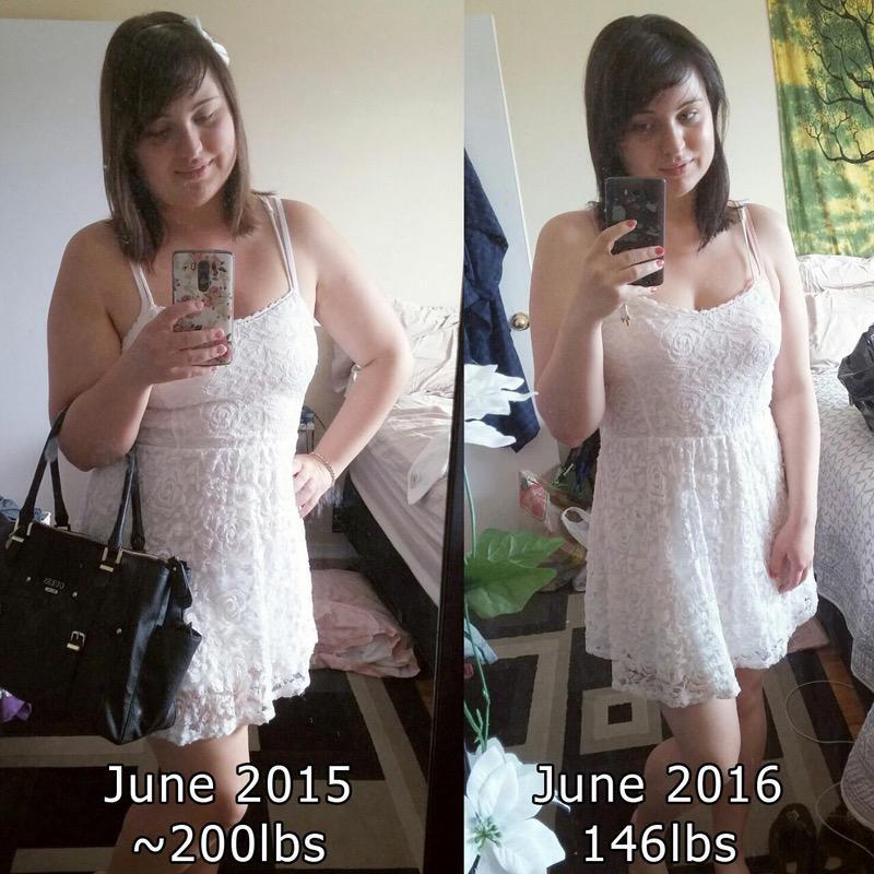 5'4 Female 64 lbs Weight Loss 210 lbs to 146 lbs
