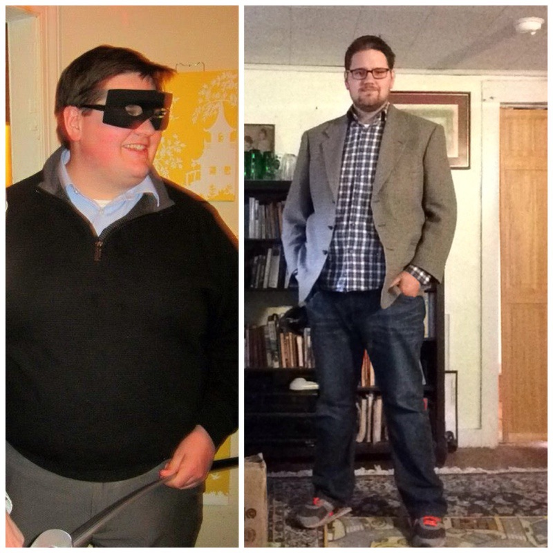 96 lbs Weight Loss Before and After 6'3 Male 370 lbs to 274 lbs