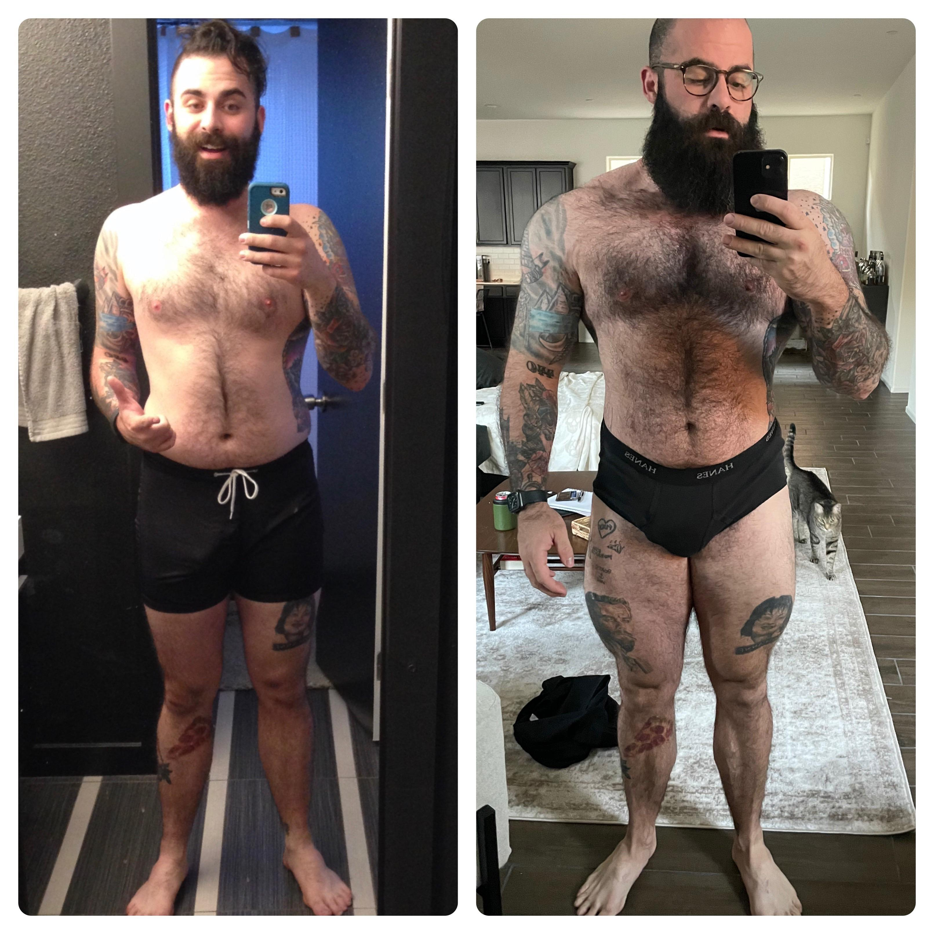 6 foot Male 48 lbs Weight Gain Before and After 175 lbs to 223 lbs