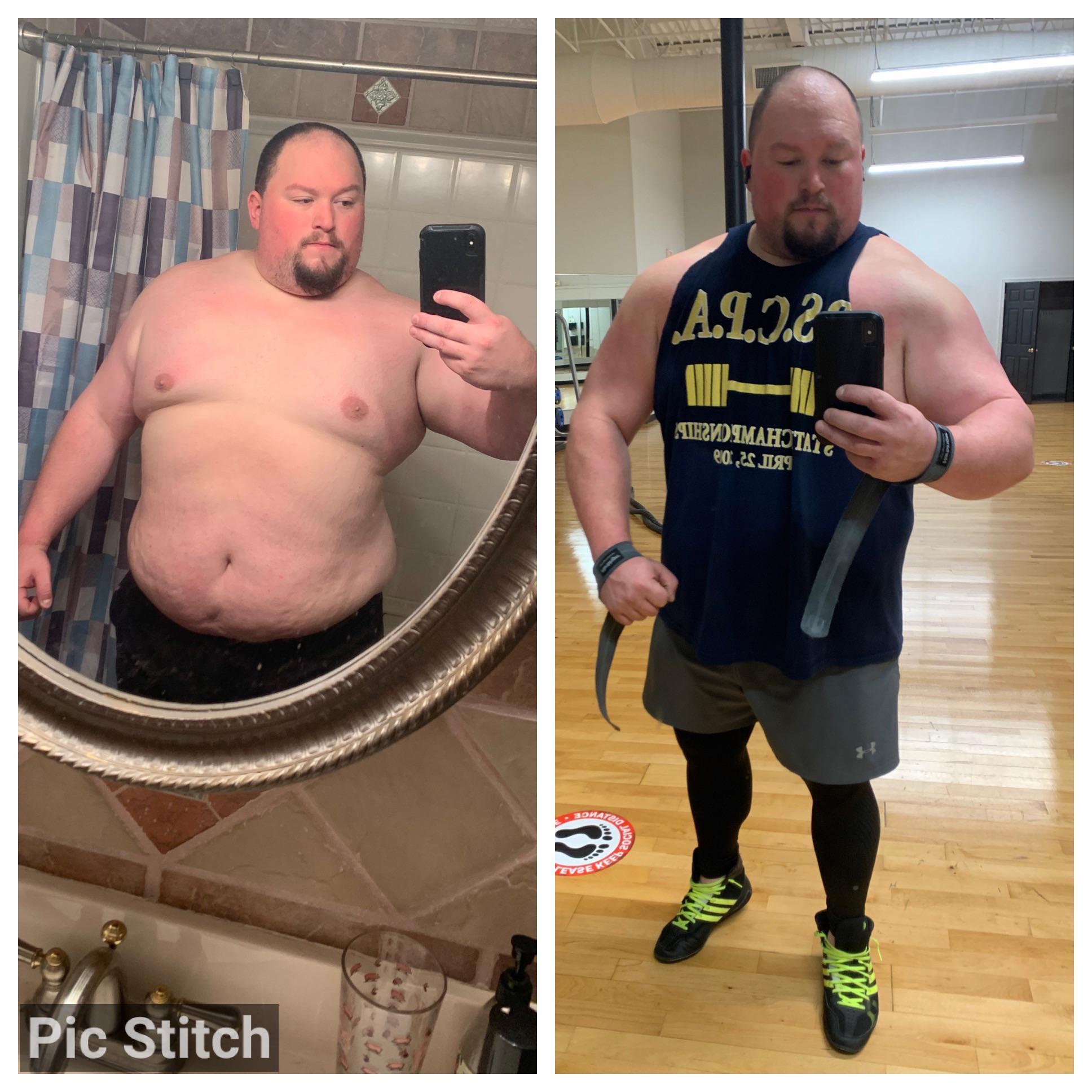 Progress Pics of 70 lbs Weight Loss 5 feet 10 Male 390 lbs to 320 lbs