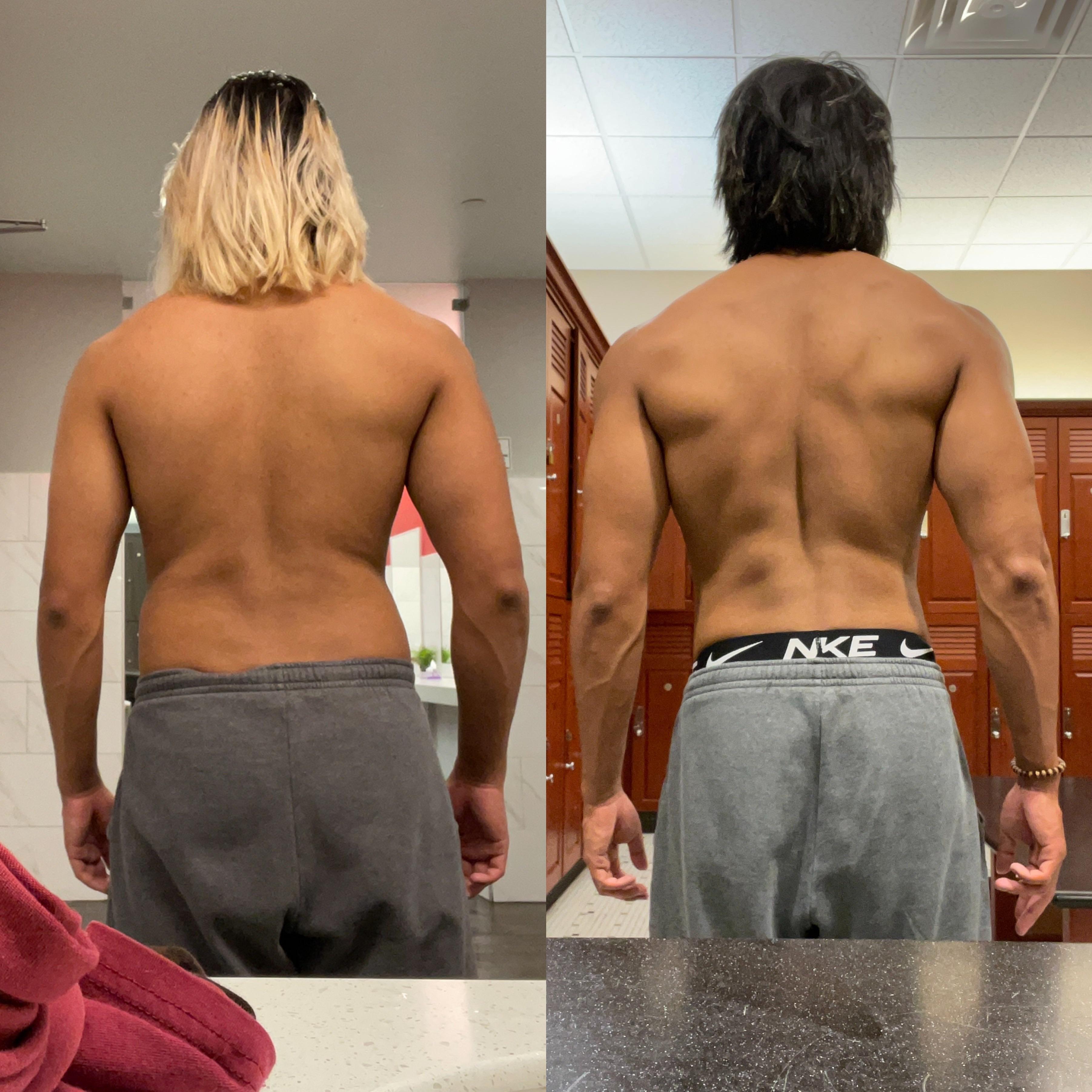5 foot 8 Male Progress Pics of 8 lbs Fat Loss 170 lbs to 162 lbs