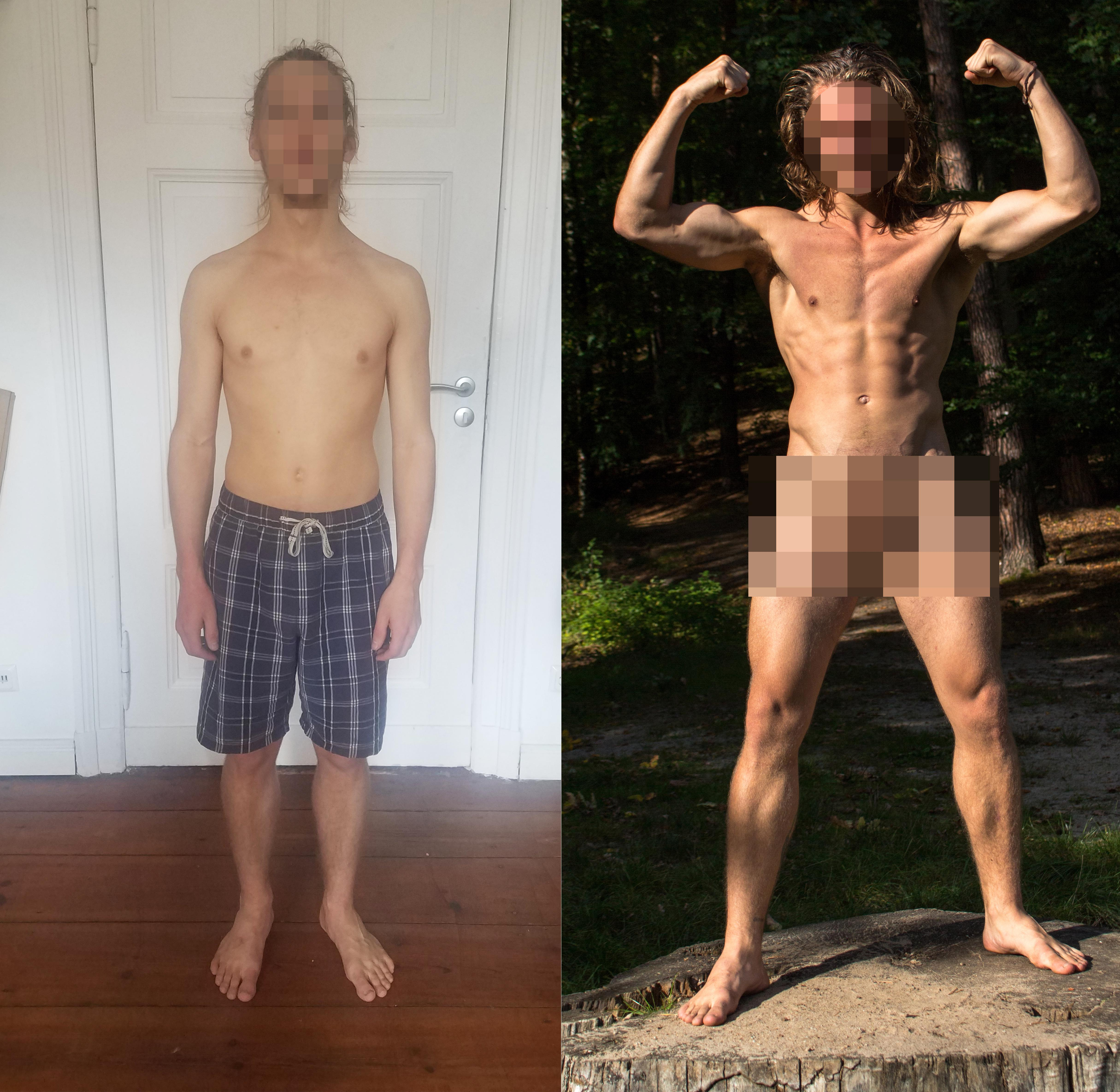 5 foot 10 Male 5 lbs Muscle Gain Before and After 165 lbs to 170 lbs