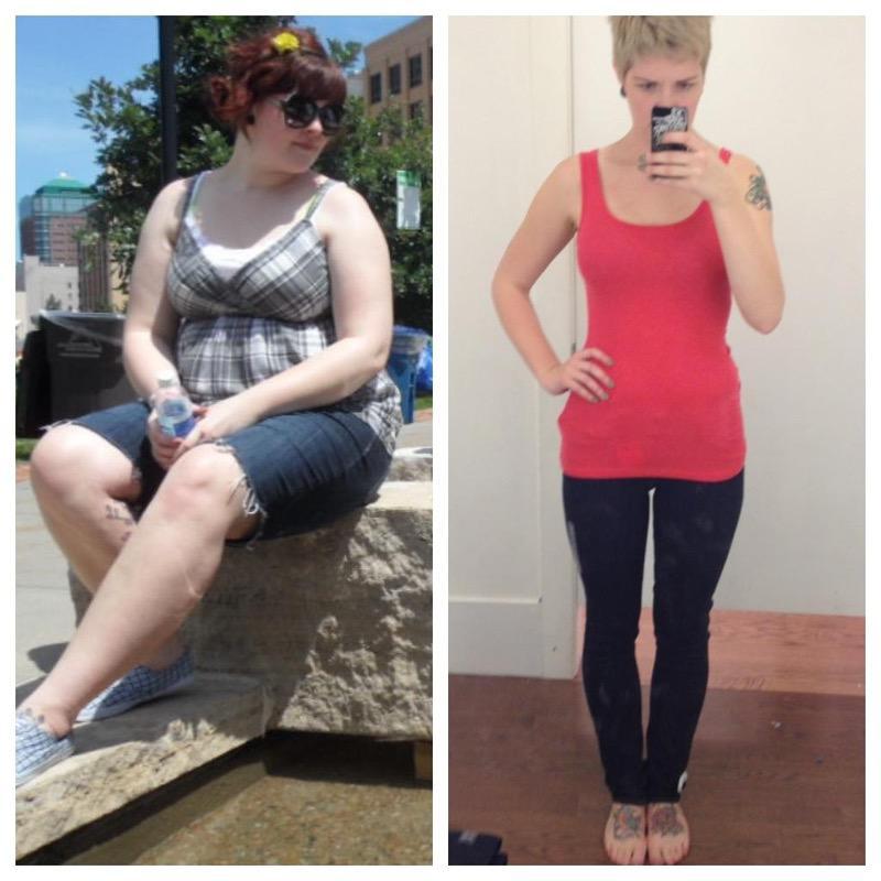 5'11 Female 75 lbs Fat Loss 240 lbs to 165 lbs