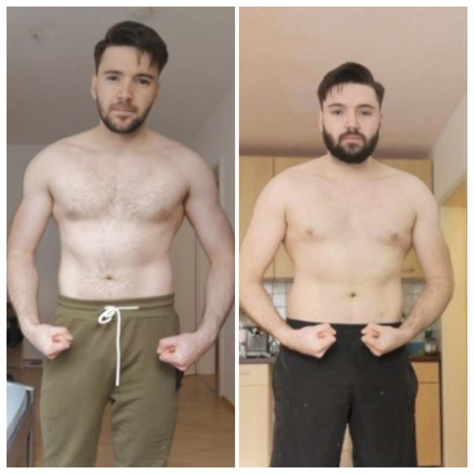 346 lbs Weight Gain Before and After 5 foot 9 Male 182 lbs to 528 lbs