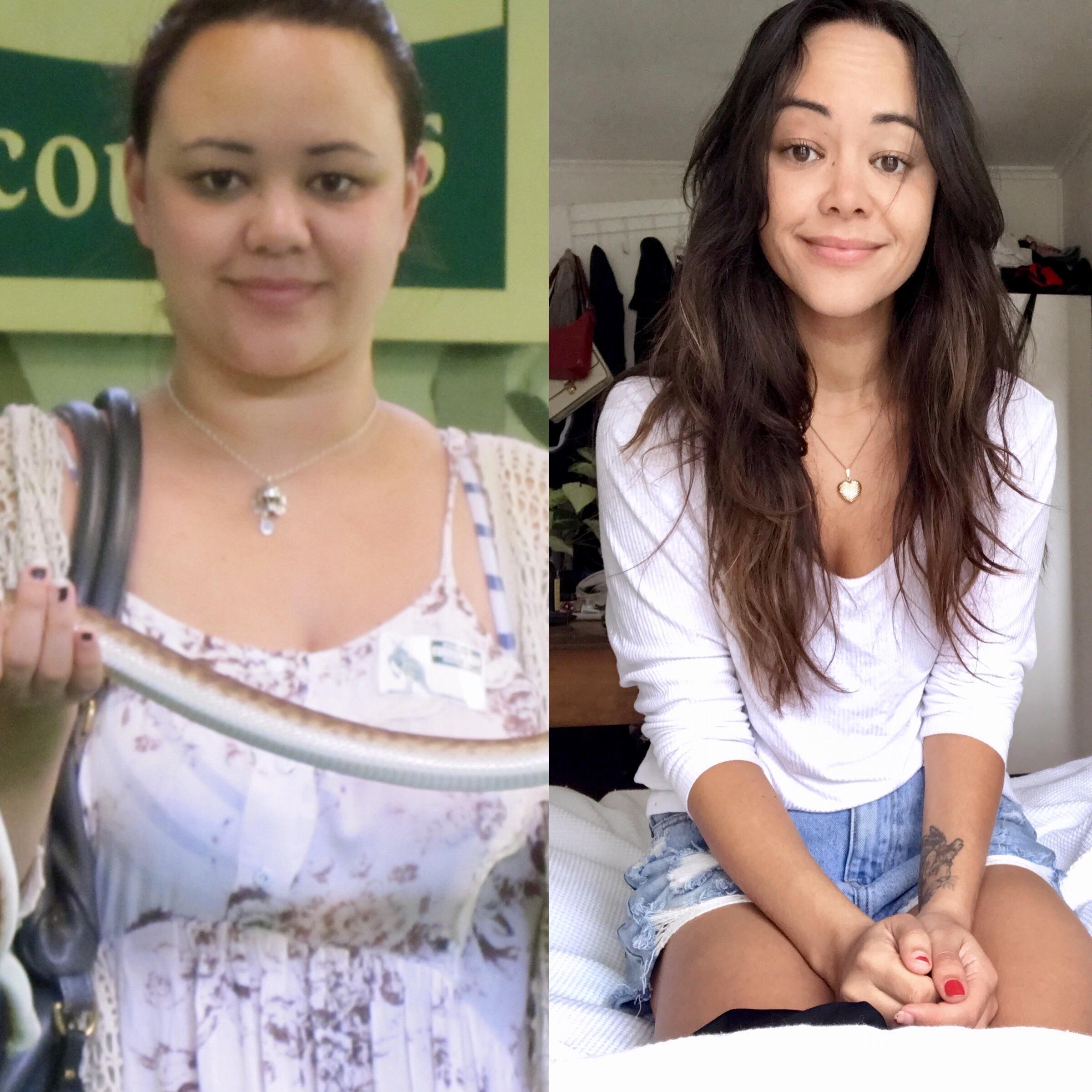 Progress Pics of 74 lbs Weight Loss 5 foot 6 Female 200 lbs to 126 lbs
