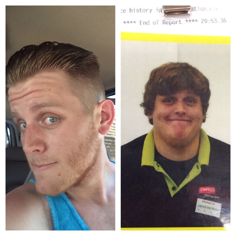 6 foot 3 Male Before and After 137 lbs Weight Loss 335 lbs to 198 lbs