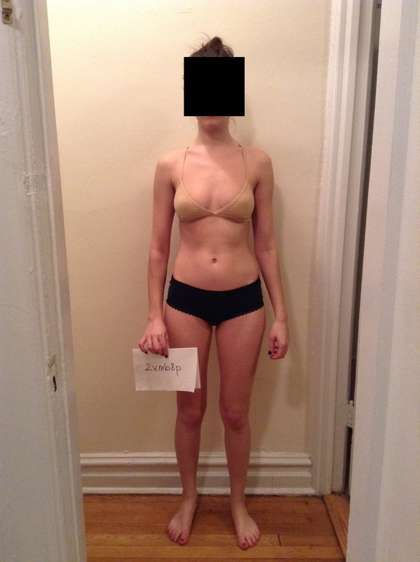 3 Photos of a 107 lbs 5 foot 5 Female Weight Snapshot