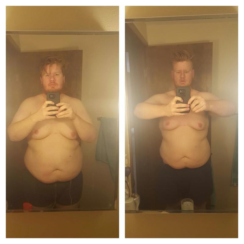 6 feet 3 Male Progress Pics of 52 lbs Weight Loss 344 lbs to 292 lbs