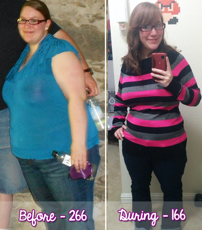 100 lbs Weight Loss Before and After 5 foot 2 Female 266 lbs to 166 lbs