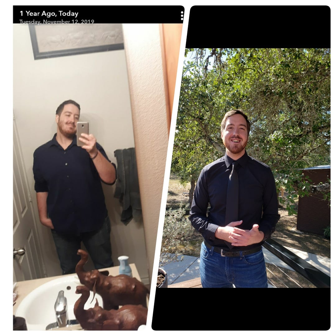6 foot 3 Male 70 lbs Fat Loss Before and After 280 lbs to 210 lbs