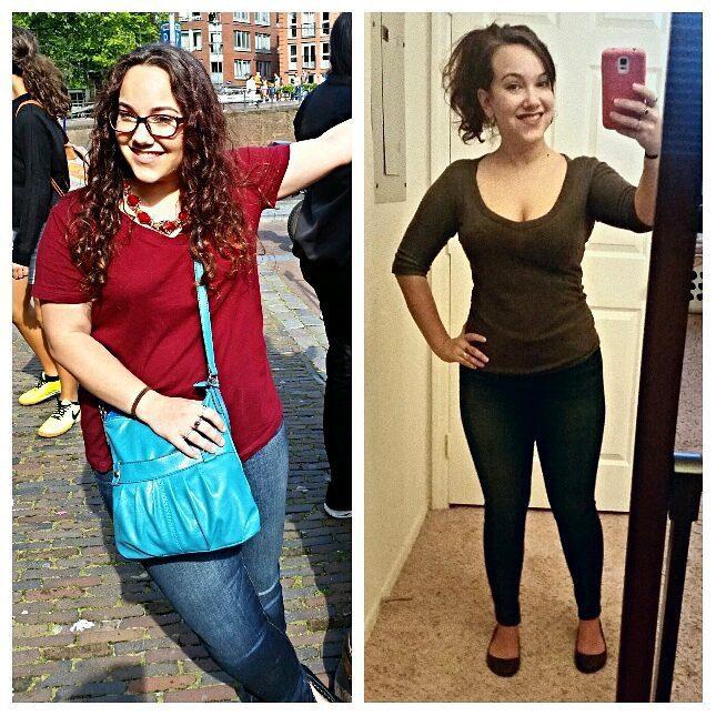 Progress Pics of 37 lbs Weight Loss 5 foot Female 165 lbs to 128 lbs