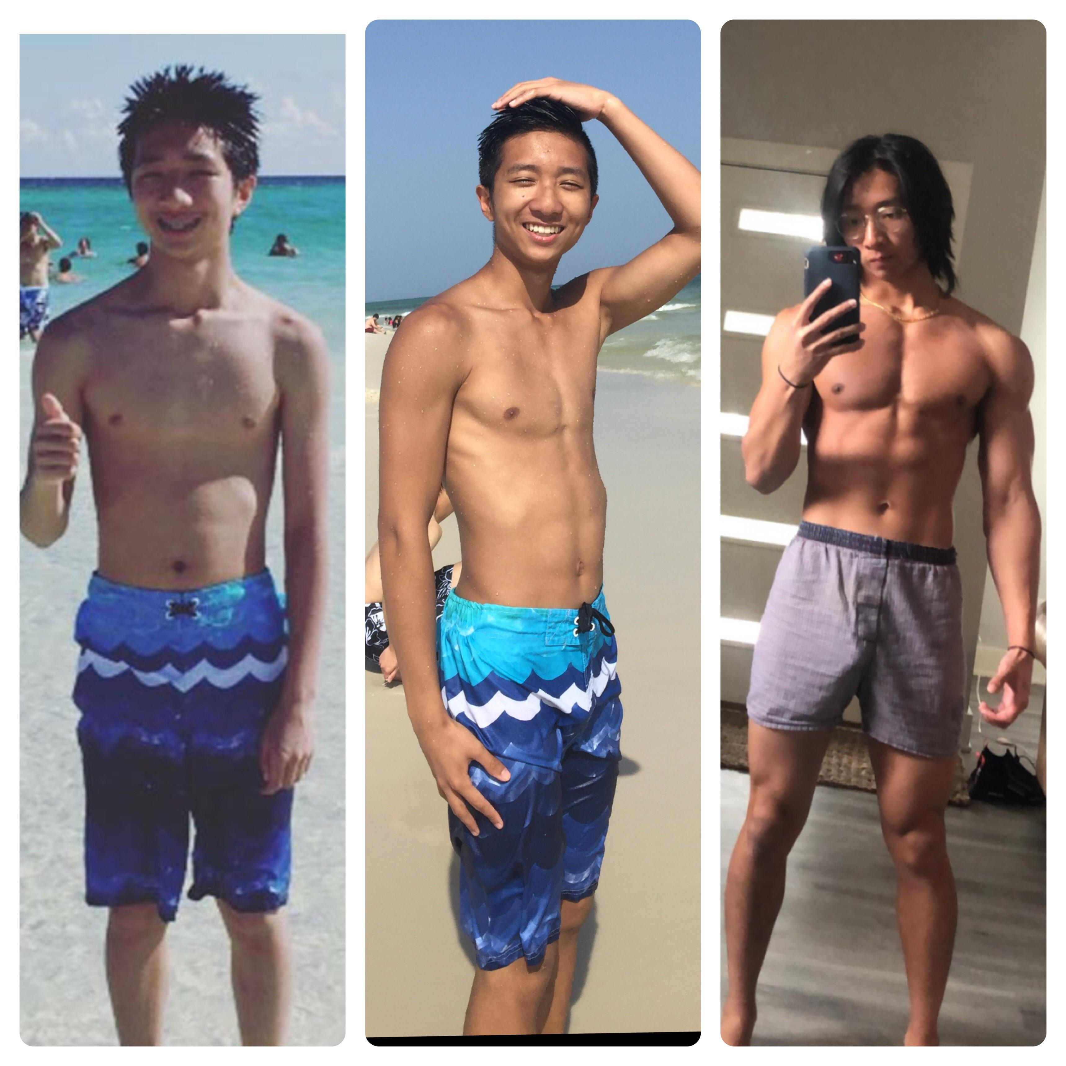35 lbs Muscle Gain Before and After 5'10 Male 120 lbs to 155 lbs