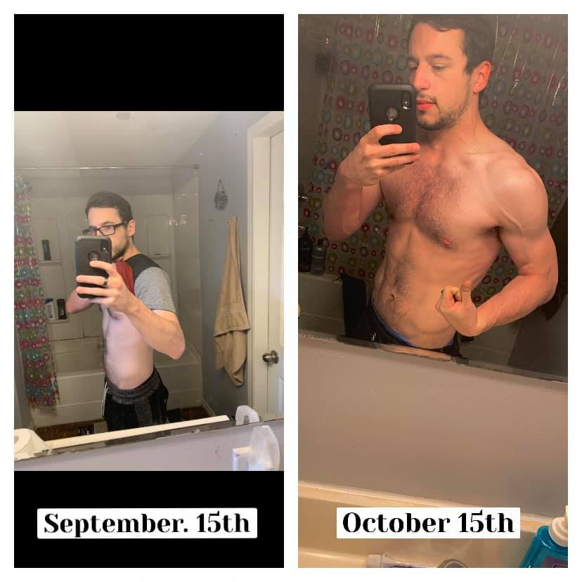 5'9 Male Progress Pics of 5 lbs Muscle Gain 152 lbs to 157 lbs