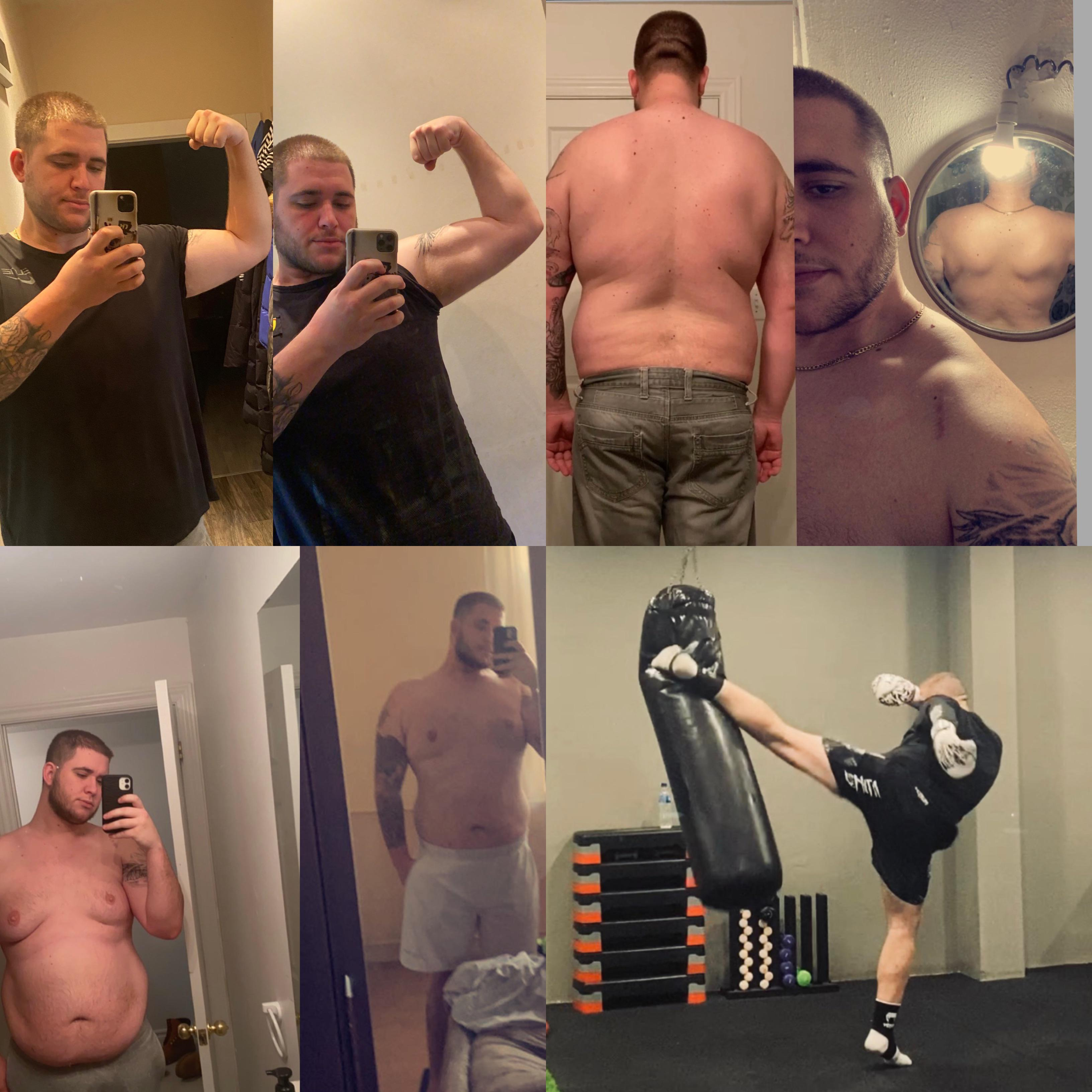 50 lbs Fat Loss Before and After 6 foot 5 Male 310 lbs to 260 lbs