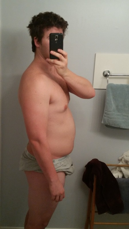 3 Photos of a 6 foot 4 264 lbs Male Weight Snapshot