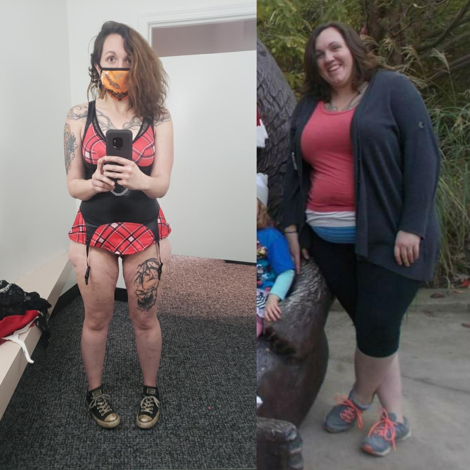 5'7 Female 154 lbs Fat Loss 319 lbs to 165 lbs