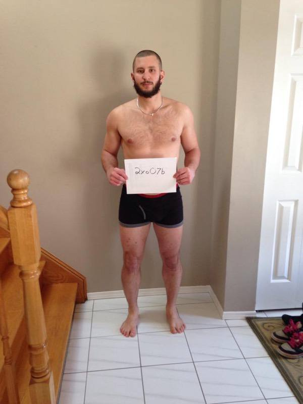 5 Photos of a 5'9 198 lbs Male Fitness Inspo