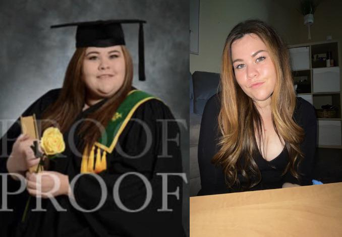 5 foot 5 Female Before and After 110 lbs Fat Loss 303 lbs to 193 lbs
