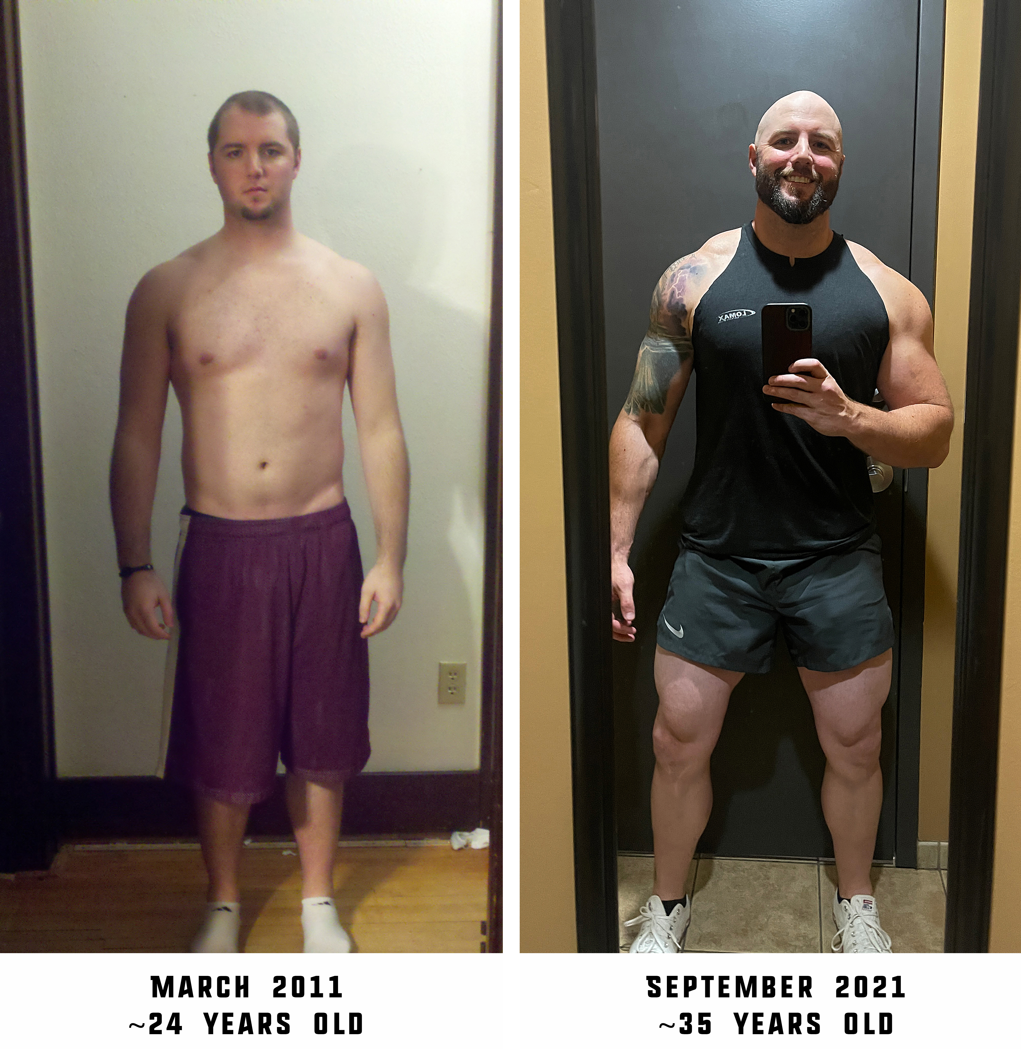 6 foot Male 15 lbs Muscle Gain Before and After 200 lbs to 215 lbs
