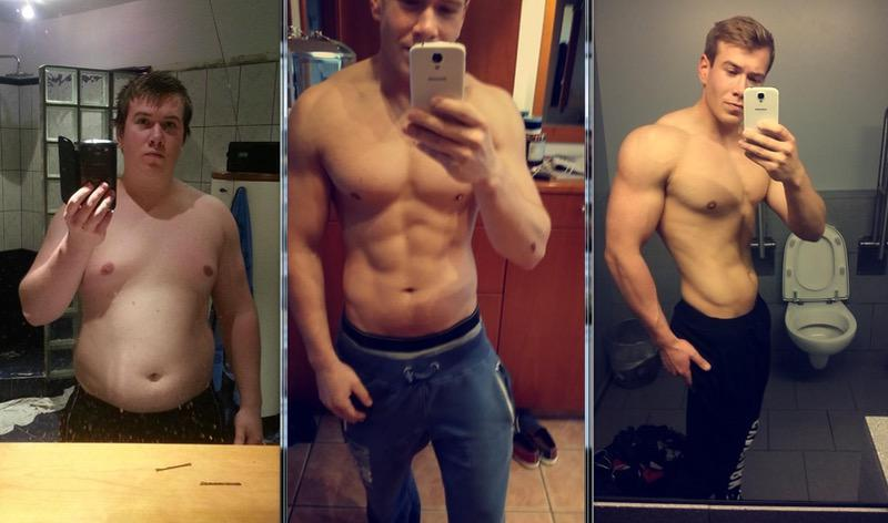 5'7 Male 50 lbs Fat Loss Before and After 210 lbs to 160 lbs
