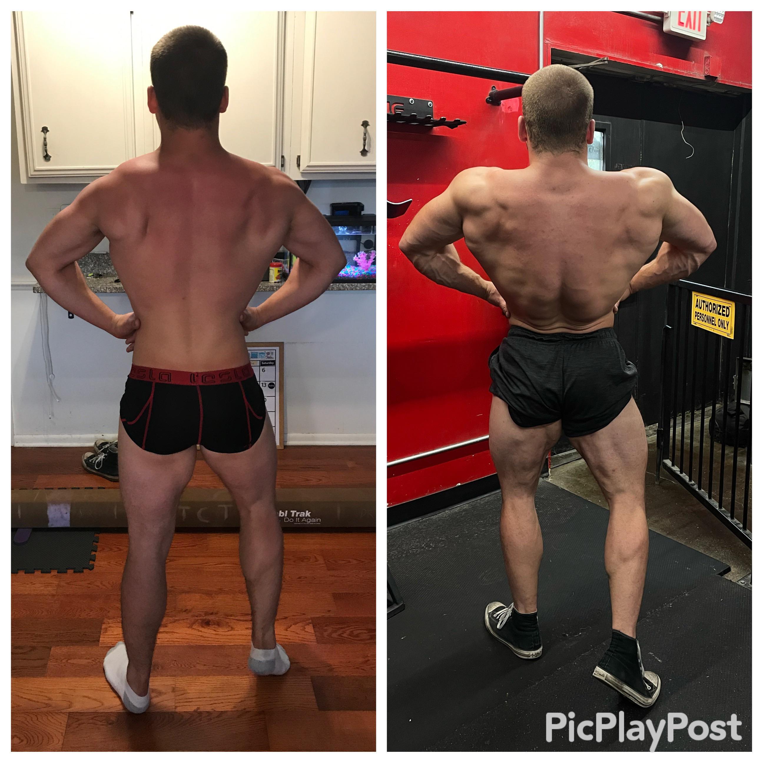 Progress Pics of 24 lbs Weight Gain 5'9 Male 184 lbs to 208 lbs