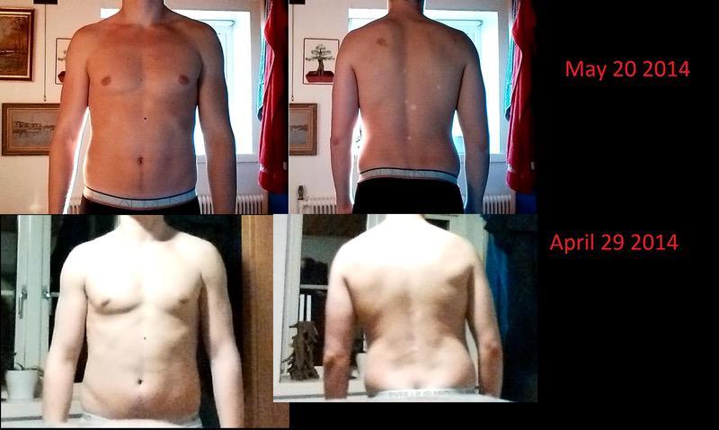 10 lbs Weight Loss 6'6 Male 225 lbs to 215 lbs