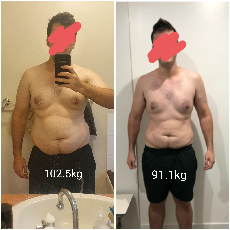 Progress Pics of 25 lbs Weight Loss 5 foot 9 Male 225 lbs to 200 lbs