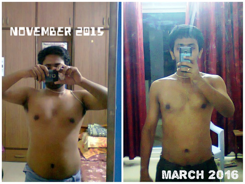 20 lbs Fat Loss Before and After 5'3 Male 149 lbs to 129 lbs