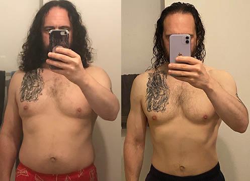 5'8 Male 25 lbs Fat Loss 180 lbs to 155 lbs