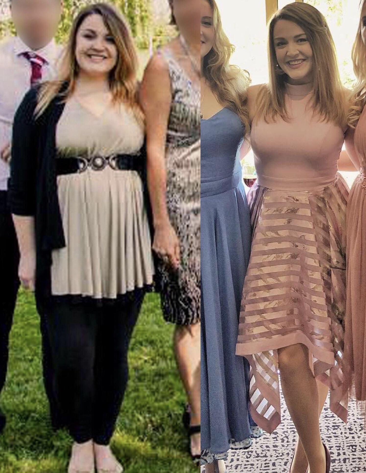 5 feet 4 Female Progress Pics of 50 lbs Weight Loss 190 lbs to 140 lbs