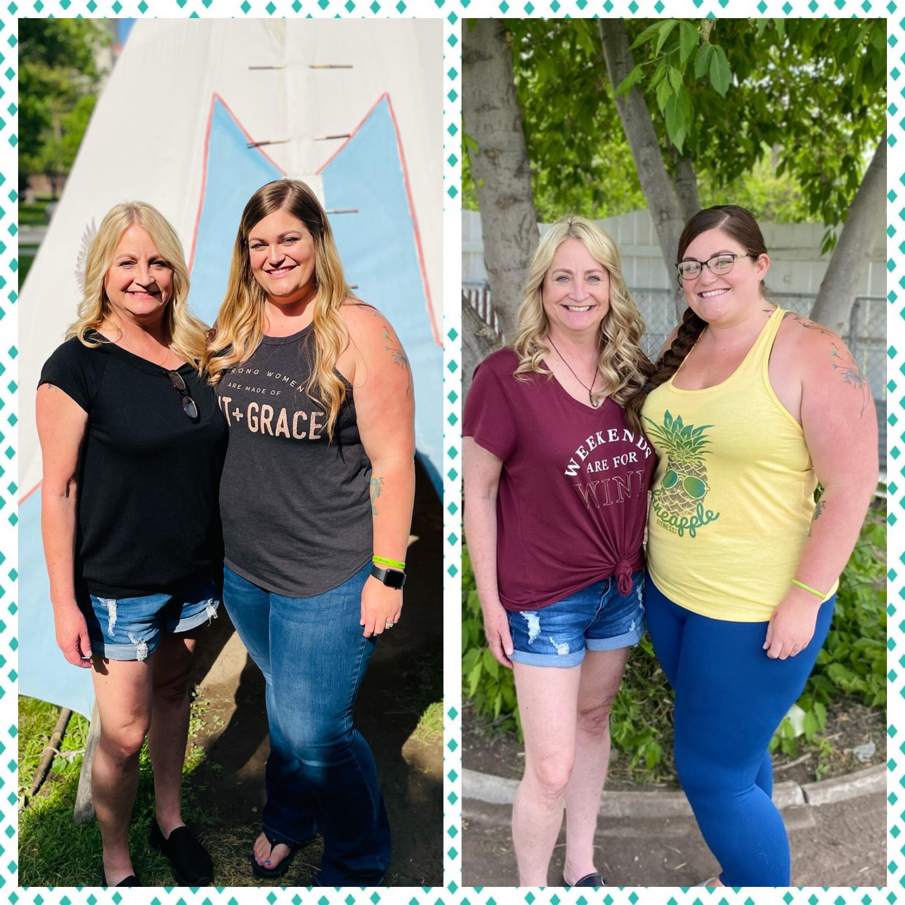 67 lbs Fat Loss Before and After 5'6 Female 289 lbs to 222 lbs