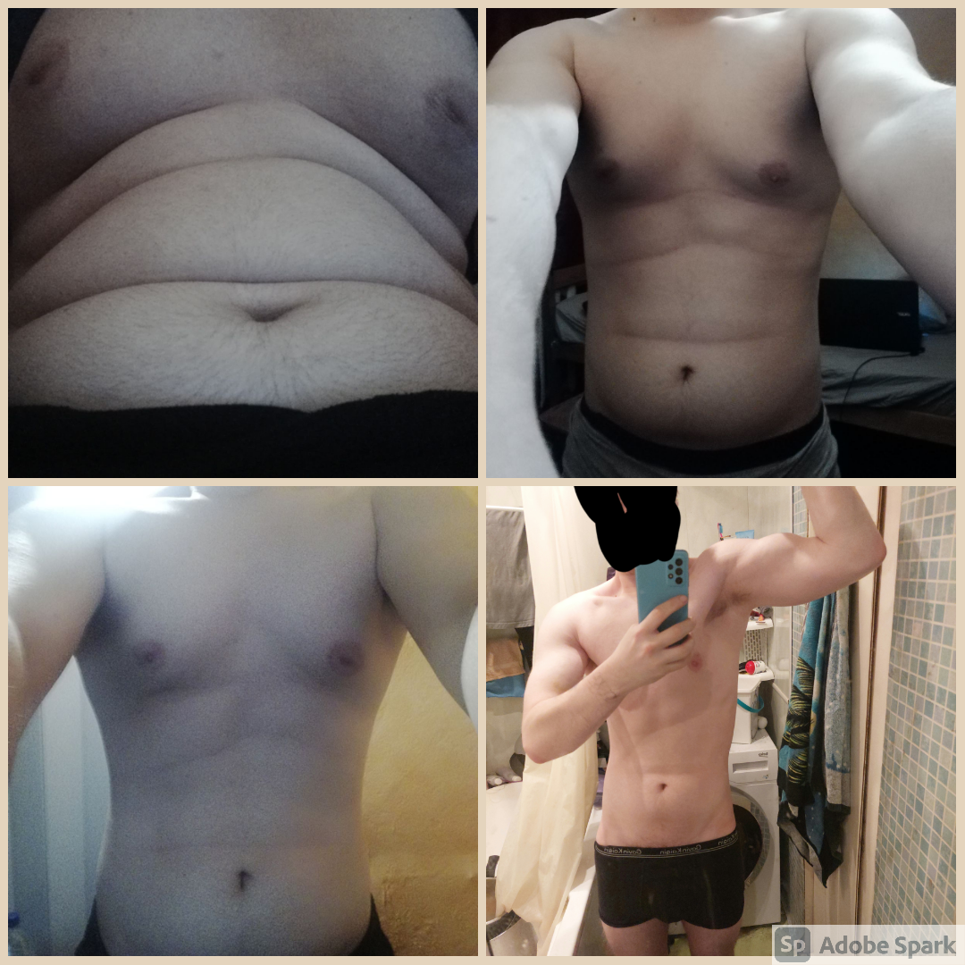 Before and After 79 lbs Weight Loss 5 foot 11 Male 244 lbs to 165 lbs