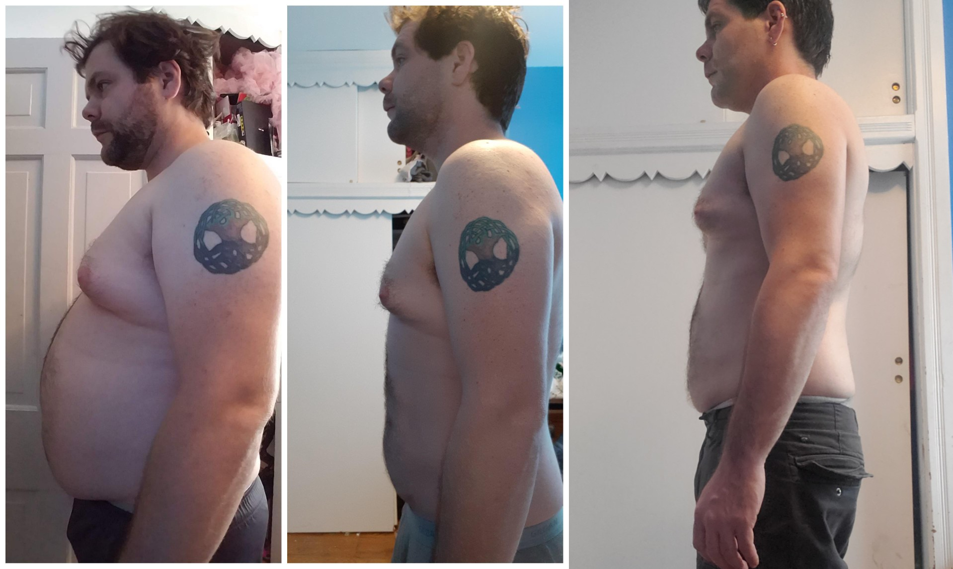 5'11 Male Progress Pics of 65 lbs Weight Loss 253 lbs to 188 lbs