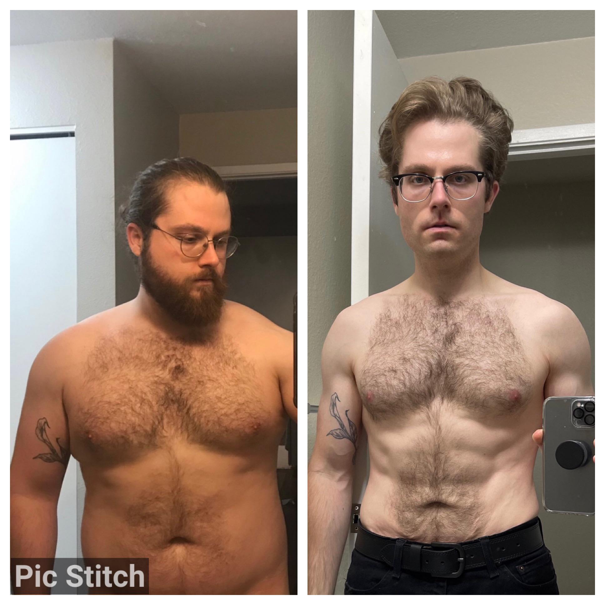 5'10 Male Progress Pics of 75 lbs Fat Loss 235 lbs to 160 lbs