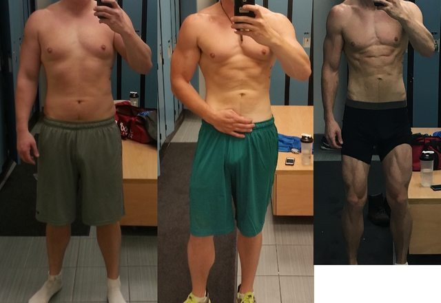 6 foot 6 Male Before and After 65 lbs Weight Loss 280 lbs to 215 lbs
