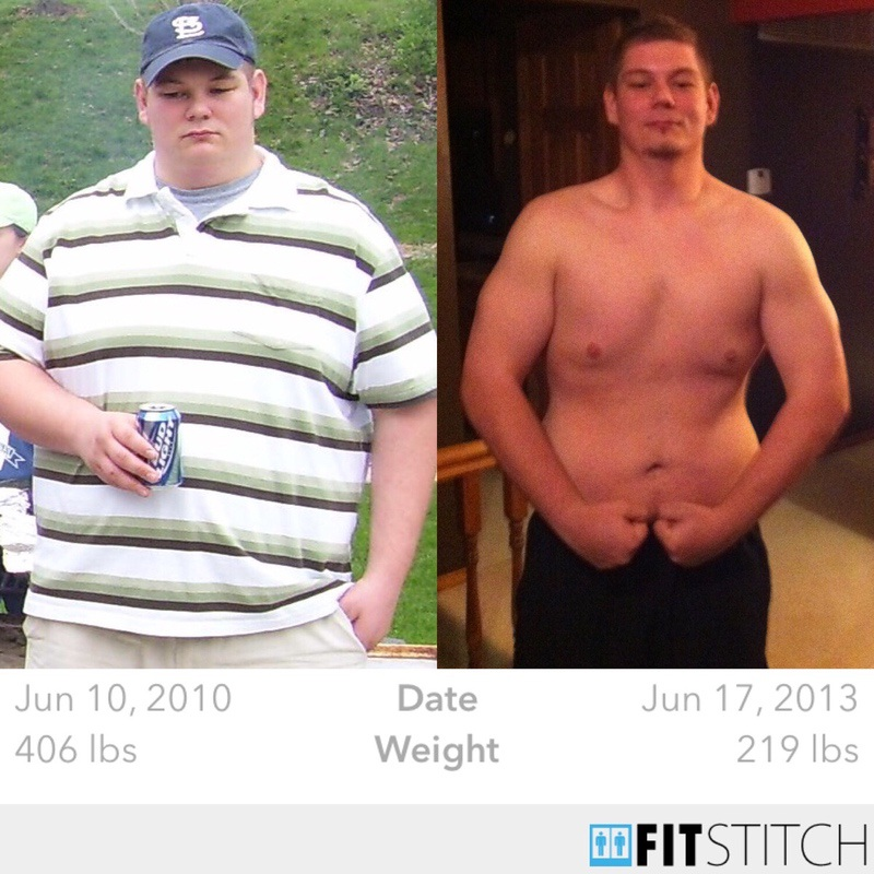 6 foot 1 Male Before and After 187 lbs Weight Loss 406 lbs to 219 lbs