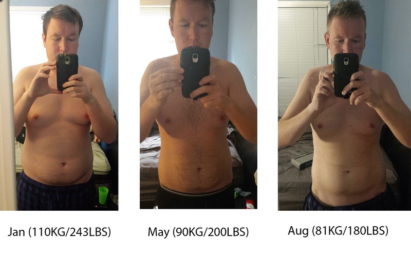6'2 Male Before and After 63 lbs Weight Loss 243 lbs to 180 lbs