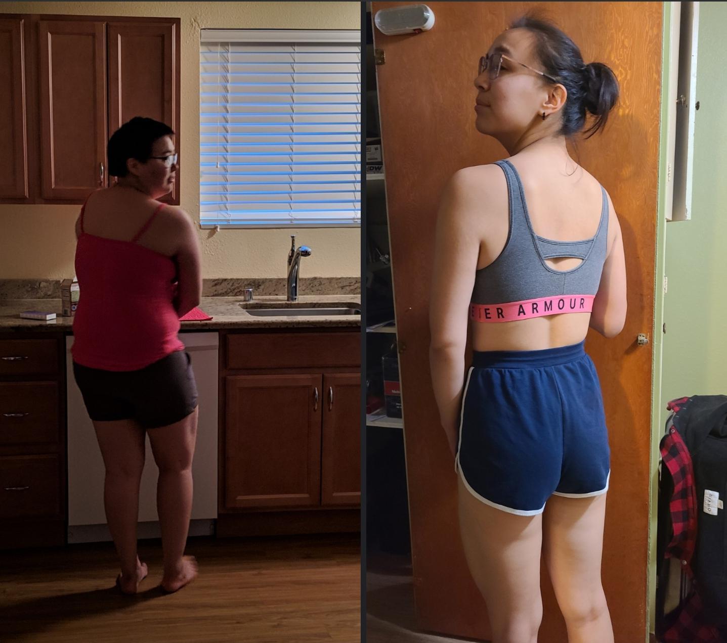Progress Pics of 78 lbs Fat Loss 5'7 Female 223 lbs to 145 lbs
